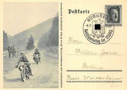 Feldpostkarte Zum Reichsparteitag 1937 Nürnberg Bolheim Motorrad-Rennen DR Ganzsache - Storia Postale