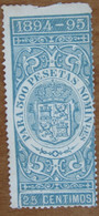 1894 1895 SPAGNA Fiscali Revenue Tax  500 Pesetas - Usato - Fiscales
