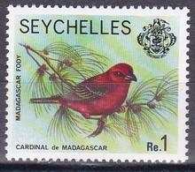Seychellen 1977 - Mi.Nr. 402 - Postfrisch MNH - Tiere Animals Vögel Birds Madagaskarweber - Songbirds & Tree Dwellers
