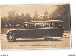 CPA 94 Vincennes Carte Photo Transport Autocar F.Maffart 28 Rue De Bagnolet - Vincennes