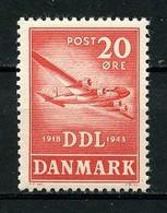 DANEMARK 1943 N° 291 ** Neuf MNH  Superbe Avions Planes Société De Navigation Aérienne Luftfartselskab Transports - Nuovi