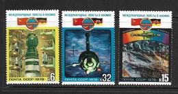URSS 1978 ESPACE  YVERT N°4524/26  NEUF MNH** - Raumfahrt