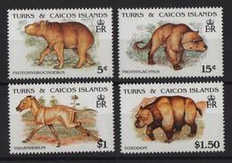 Turks Et Caiques - N°926 à 929 - Faune - Animaux Prehistorique - Cote 8.75€ - * Neufs Avec Trace De Charniere - Turks And Caicos