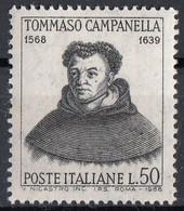 Italia 1968 Uf. 1094 Tommaso Campanella (1568-1639) -  Filosofo Teologo Nuovo MNH - Teologi