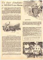 1952 - Iconographie - Neuilly-sur-Marne (Seine-Saint-Denis) - Un Foyer D'étudiantes - PRÉVOIR FRAIS DE PORT - Unclassified