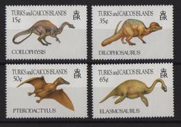 Turks Et Caiques - N°1050 à 1053 - Faune - Animaux Prehistorique - Cote 5.50€ - * Neufs Avec Trace De Charniere - Turks And Caicos
