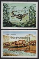 Turks Et Caiques - BF N°101 + 109 - Faune - Animaux Prehistorique - Cote 18€ - ** Neuf Sans Charniere - Turks And Caicos
