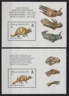 Turks Et Caiques - BF N°128 + 133 - Faune - Animaux Prehistorique - Cote 16€ - ** Neuf Sans Charniere - Turks And Caicos