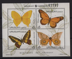 Uruguay - BF N°52 - Faune - Papillons - Cote 15€ - ** Neuf Sans Charniere - Uruguay