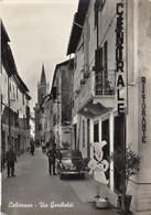 CALIZZANO-SAVONA-VIA GARIBALDI-ANIMATISSIMA-CARTOLINA VERA FOTOGRAFIA VIAGGIATA 1958-1963 - Savona