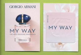 ARMANI * MY WAY * CARD + PATCH  * NEW - Modernes (à Partir De 1961)