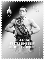 Estonia Estland Estonie 2020 (20) – 100 Years Since Estonia's First Olympic Victory (silver Foil Stamp) - Estonia