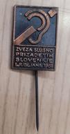 Association Of Hearing Impaired Slovenia 1981  Disabled Slovenia Bronze Pin - Geneeskunde