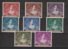 Portugal 1953 Centenaire Du Timbre Portrait De La Reine 797 à 804 8 Val ** MNH - 1910-... République