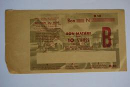 Rationnement - Billet Matiere Ocrpi Acier Ordinaire Change - Historische Documenten