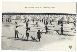 LES SALINS DU MIDI - Aigues-Mortes (Gard, 30) Le Battage Du Sel - Très Beau Plan Animé - Aigues-Mortes