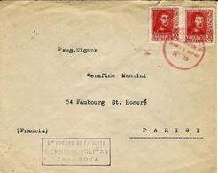 Sans Date -env. Affr. à 60cts Oblit. Estafeta De Campana N°25 + 5° Cuerpo De Ejercito /CENSURA MILITAR / ZARAGOZA - 1931-50 Lettres