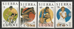 SIERRA LEONE - N°809/12 ** (1987) J.O De Séoul - Sierra Leona (1961-...)