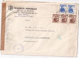 AUTRICHE 1952 LETTRE CENSUREE DE WIEN POUR MUNCHEN - 1945-.... 2a Repubblica