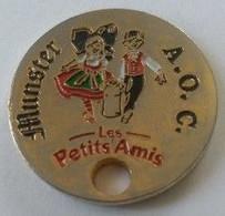 Jeton De Caddie - Fromage - MUNSTER - AOC - Les Petits Amis - Affiné En ALSACE - En Métal - - Trolley Token/Shopping Trolley Chip