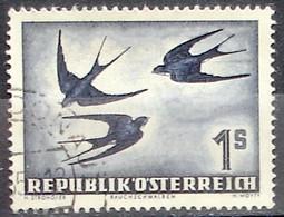Austria Autriche Österreich 1953: Rauchschwalbe (hirundo Rustica) Michel-No. 984 Mit Eck-o ....DONAU (Michel 20.00 Euro) - Airmail