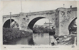 11  Carcassonne  -les Bords De L'aude Au Vieux Pont - Carcassonne