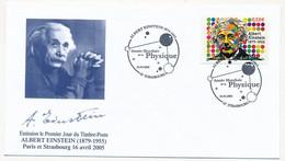 FRANCE - Env. FDC 0,53 EINSTEIN - Année Mondiale De La Physique - Strasbourg - 16/4/2005 - 2000-2009