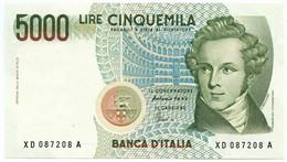 5000 LIRE B. D'ITALIA VINCENZO BELLINI SERIE SOSTITUTIVA XD 25/07/2001 FDS - [ 2] 1946-… : Repubblica