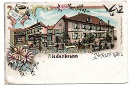 Niederbronn -  Gruss - Hotel De La Chaine D'Or - CPA °r - Niederbronn Les Bains