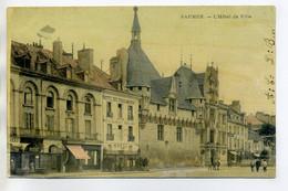 49 SAUMUR Edit Grillon- Bel Aspect Toilé Couleur Hotel De Ville Et Hotel Des Trois Anges 1906 Timb     /D01-2018 - Saumur