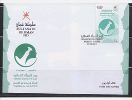 FIRST DAY COVER SULTANTE OMAN OMANI WOMEN DAY   MINT NH - Oman