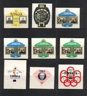 (stamps 17/9/2020) Selection Of Mint Tonga Stamps (9) - Tonga (1970-...)
