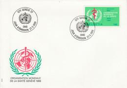 SUISSE FDC 1996 SERVICE - ORGANISATION MONDIALE DE LA SANTE - FDC