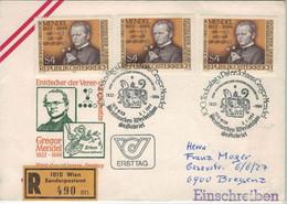 Pisum Sativum - Johann Gregor Mendel - Entdecker Der Vererbungsgesetze Wien 1984 Wien Sonderpostamt - Medizin