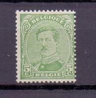 137A ALBERT I 5C. GROEN TANDING TYPE 2 POSTFRIS** 1919 - 1915-1920 Albert I