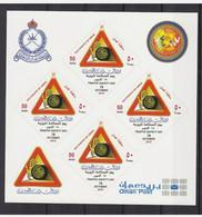 SULTANATE OMAN MINI SHEETLET 4 SET SELFADHSIVE STAMP TRAFIC SAFTY COLLECTION ITEM - Oman