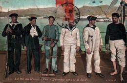 CPA - La Vie Du MARIN - Différentes Tenues à Bord - Edition L.V.Cie - Guerra