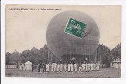 CP MILITARIA Sapeurs Aerostiers Ballon Militaire Campé - Zeppeline