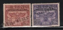 Venezuela 1942 Yvert Airmail 158-59, Surtaxe Construction Monumen Simon Bolivar - MNH - Venezuela