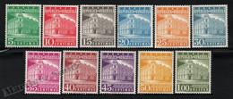 Venezuela 1958-60 Yvert 557-64, Definitive Set. Architecture. Post. Caracas Post Office - MNH - Venezuela