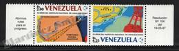 Venezuela 1987 Yvert 1302-03, Organizations. 35th Anniv National Canalization Institute. Maps - Pair W Tabs - MNH - Venezuela