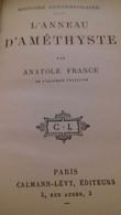 L'anneau D'améthyste ANATOLE FRANCE Calmann Lévy 1903 - Books, Magazines, Comics
