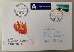 10576 - Oblitération Comité International Olympique  Lausanne 12.02.2010 Enveloppe Et Timbre Vancouver 2010 - Winter 2010: Vancouver