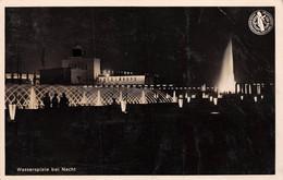 Echt Foto AK 1937 Düsseldorf Wasserspiele Bei Nacht Schaffendes Volk Reichsausstellung Drittes Reich - Duesseldorf