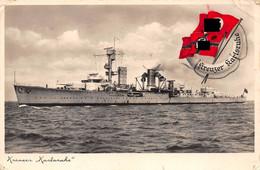 Echt Foto AK 1937 Kreuzer Karlsruhe Kriegsschiff Deutsches Reich Drittes Reich Wesermünde Lindach - Materiale