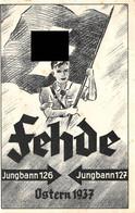 Deutsches Reich Postkarte SS Fehde Jungbann 126 - Jungbann 127 Ostern 1937 - Nuovi
