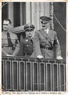 Foto AK 1937 Nürnberg Reichsparteitag Der Führer R. Heß Und Schirach Auf Balkon Des Deutschen Hof - Storia Postale