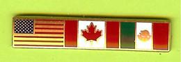 Pin's ALÉNA Accord Libre-Échange États-Unis Canada Mexique - 8C22 - Pin's & Anstecknadeln