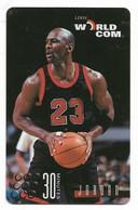 Worldcom U.S.A., Basketball, Michael Jordan, 30 Minutes Calling Card, # Mj-2,  Expired, No Value - Sport