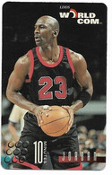 Worldcom U.S.A., Basketball, Michael Jordan, 10 Minutes Calling Card, # Mj-3,  Expired, No Value - Sport